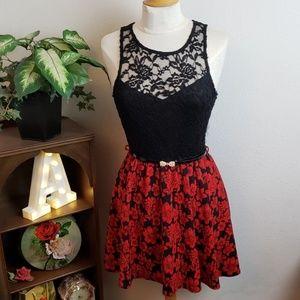 Papaya Lace And Floral Dress